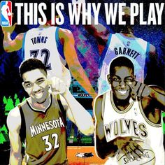 Carry on tradition #ThisIsWhyWePlay Karl Anthony Towns Kevin Garnett @mntimberwolves