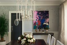 Roughan Interior Design, Dining Room. Photographer Jane Beiles