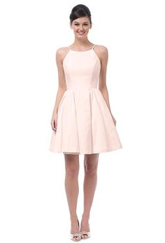 A blush pink faille bridesmaid dress | @weddingtonway | Brides.com