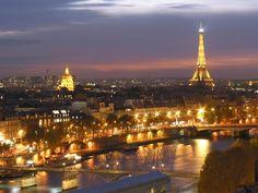 A view at Paris when turn night (also seen Eiffel Tower)