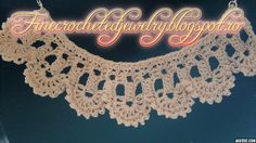 Crochet lace necklace http://www.finecrochetedjewelry.blogspot.ro/