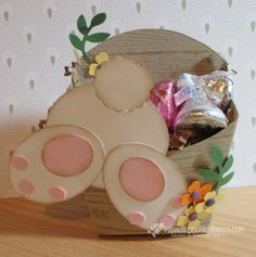 Stamp & Scrap with Frenchie: Easter Bunny in the Fry Box - Bunny Punch Art Video Tutorial