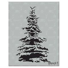 Snowy Pine, Holiday, Christmas, Tree, Stencil- Reusable Craft & DIY Stencils- By Laser Cut Stencils, Sign Stencils, Tree Stencil, Stencil Diy, Snowflake Stencil, Stenciling, Stencil Patterns, Stencil Designs, Wood Patterns