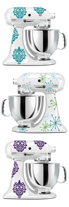 KitchenAid Mixer Decals // Love this Idea, #2 would be amazing on my bayleaf green mixer