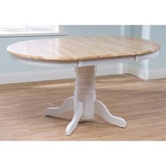 Found it at Wayfair - TMS Farmhouse Dining Table - Finish: White / Natural