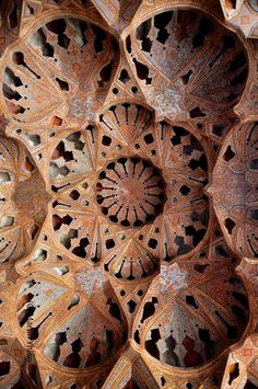 I can't even get my head around this... Aali Qapu Palace Safavid - Ceiling Detail. Esfahan, IRAN