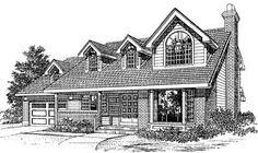 Cape Cod   House Plan 55181