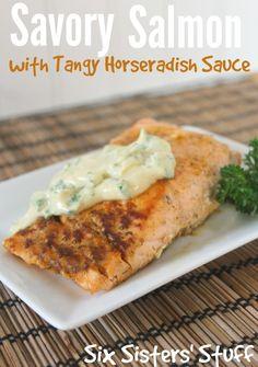 Savory Salmon with Tangy Horseradish Sauce on MyRecipeMagic.com