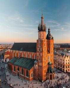 St Mary's Church in Old Town, Krakow, Poland