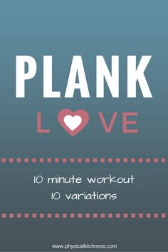 10-minute plank workout that targets shoulders, core, arms and butt. A quick and effective total body workout.