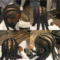 Dreadlock Hairstyles For Men, Dreadlock Styles, Dreads Styles, Twist Hairstyles, Braid Styles, Dread Braids, Mens Braids, Loc Styles For Men, Black Men Beards