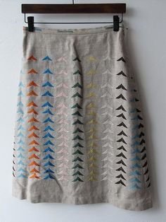 Arrow design skirt by Mina Perhonen