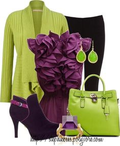 Purple and lime! #pantone #colors #classic