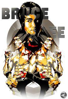 Bruce Lee. Bruce Lee Poster, Bruce Lee Art, Bruce Lee Photos, Brandon Lee, Enter The Dragon, Wing Chun, Tao, Jackie Chan, Kung Fu