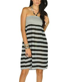 Take a look at this Black Beaded Stripe Dress by Lagaci on #zulily today!