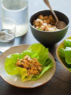 Chicken Lettuce Wraps by spoonforkbacon #Wraps#Lettuce #Chicken #Light