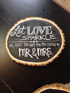 Sparkler Send-off // Let Love Sparkle // Light the Way for the New Mr. & Mrs. // Sparkler Chalkboard Sign by handmadeEvangeline on Etsy https://www.etsy.com/listing/216562475/sparkler-send-off-let-love-sparkle-light