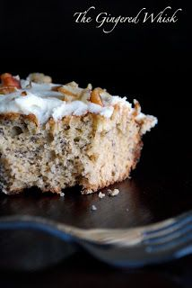 Roasted Banana Cake with Brown Butter Cream Cheese Frosting via The Gingered Whisk