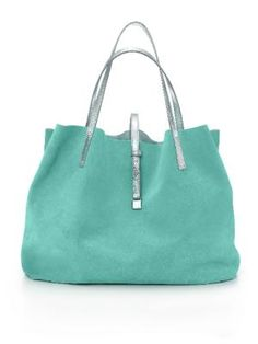From peridot to purses: Tiffany & Co. now offers Lambertson Truex handbags. This bag, called the Reversible, comes in large and small sizes and a variety of colors. Large, shown here, $595.