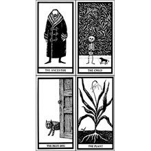 If you happened to be wondering whether Edward Gorey and the tarot would make a good combination, now you know: They do. The Fantod Pack Tarot Cards at GoreyStore.com.