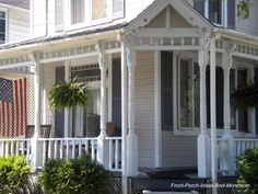 Looks like an iconic American front porch. On Front-Porch-Ideas-and-More.com #porch