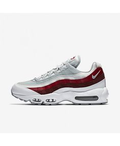 official photos 52927 df388 Chaussure Homme Nike Air Max 95 Essential Blanche Rouge Chaussure Nike Femme,  Chaussure Sneakers,