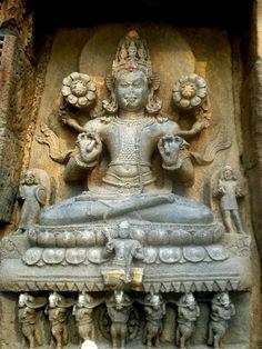 Surya, the Sun God, Orissa temple sculpture.