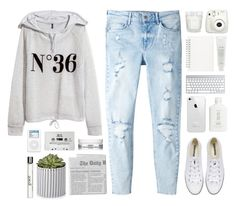 """""""{ Way Out }"""" by cris-love ❤ liked on Polyvore featuring H&M, MANGO, Converse, Muji, Fresh, Kiehl's and philosophy"""