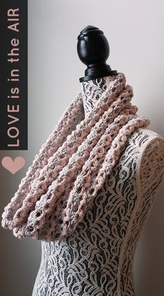 Love Is In The Air Cowl - Free Crochet Pattern