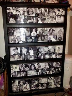 Dresser Re do with modge podge and photos