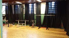 Gymsalen før vi begynte arbeidet