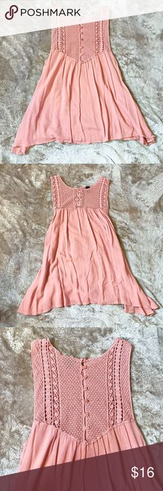 Windsor Fashions Blush Crochet Babydoll Tank Great date night top! Button detailing on the back is the cutest! Has the smallest amount of pilling in one spot, otherwise perfect condition! Worn twice. Size S. Windsor Tops Tank Tops