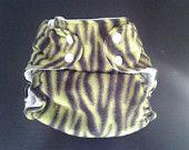 Yellowy Green Wild Child One Size Pocket Diaper