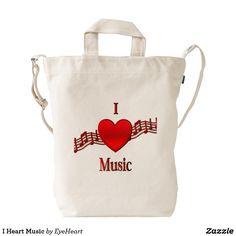 I Heart Music Duck Bag