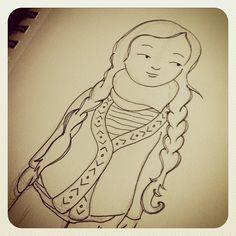 Sketchbook Sunday – More Mori Girl Edition | Rancho Cocoa #mori #morigirl #art #illustration #drawing #cute
