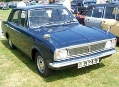Ford Cortina Mark II 1300 Delux . My sixth car.