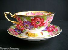 VTG CARMEN ROYAL STANDARD FINE ENGLISH BONE CHINA TEA CUP & SAUCER PINK FLOWERS