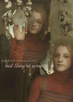 """Muggles think these keep evil away, but they're wrong."" ~ Luna Lovegood #HarryPotter #DeathlyHallows #ShellCottage"