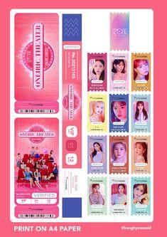 Slogan Design, Graphic Design, Ticket Design, Bullet Journal Aesthetic, Kpop Merch, Concert Tickets, Aesthetic Stickers, Beautiful Sky, The Wiz