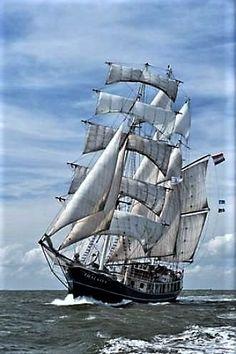 """Barquentine Sailing Ship """"Thalassa"""""""