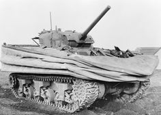 The Duplex Drive 'swimming' Sherman was an amphibious tank used on all five beaches on D-Day.