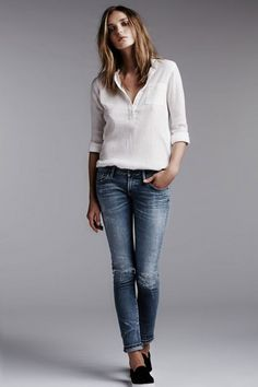 ways to wear white tops, and then some...