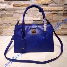 4f74b2fb72 Miu Miu Madras Tote Royal Blue sale at USD373.00 - Free Worldwide shipping. LuxTime  DFO Handbags