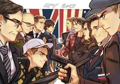 The year of the spy movie. I love Eggsy's face, and that he's flipping them off