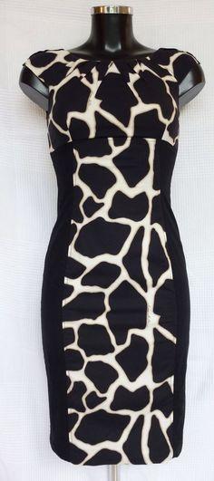 Robe sans manches Karen Millen noire et blanche Taille 36