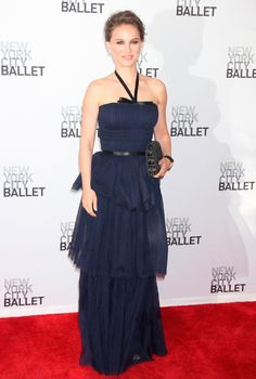 Natalie Portman at the Ballet Spring Gala - Vintage Dior from the 1974 spring/summer collection.