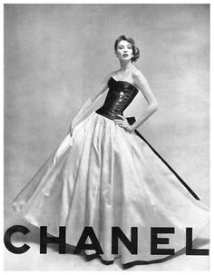 "Suzy Parker in Chanel, Vogue 1956. ""IN ORDER TO BE IRREPLACEABLE ONE MUST ALWAYS BE DIFFERENT"" [Coco Chanel]"