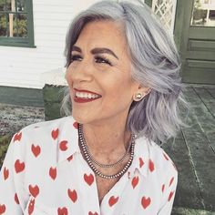 "65 Likes, 3 Comments - Going Grey With Grombre (@grombre) on Instagram: ""@thesilverstylist showing us how it's done. Check out her blog, madeuplove. Thanks for being so…"""