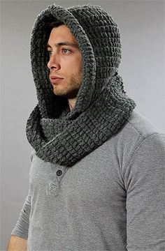 Hand knitted infinity scarves /12 ply/mens - Google Search