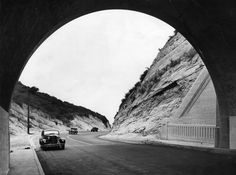 A view of the north portal of the Sepulveda Tunnel (October 19, 1935)